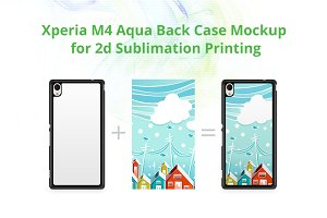 Xperia M4 Aqua 2dCase Back Mock-up