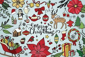 Merry Christmas & Holidays Clipart