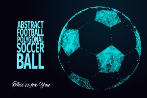 FOOTBALL SOCCER POLYGONAL BALL