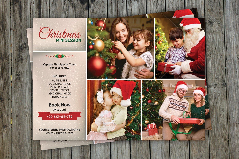 Christmas Mini Session Template V117 Flyer Templates Creative Market