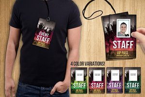 Badge PSD Template – VIP PASS