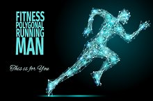 FITNESS / POLYGONAL / RUNNING MAN