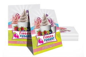 Frozen Yogurt Menu Flyer