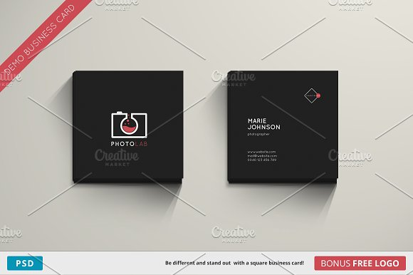 Photolab Business Card Square Cards