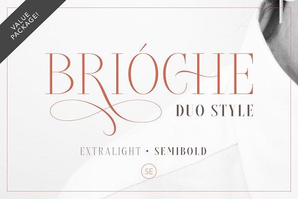 Brioche - (ExtraLight & SemiBold)