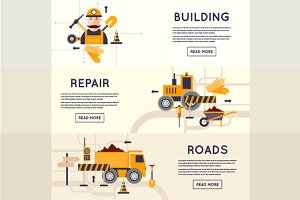 Road construction equipment.