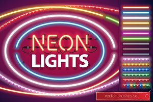 Neon Lights Decoration Set