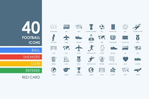 40 football icons