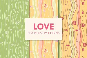 Love seamless patterns