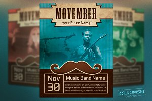 Movember Event Flyer Template