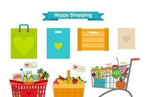 Happy shopping concept