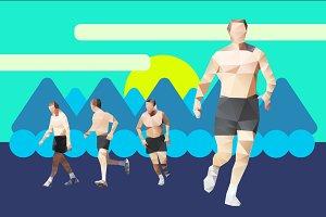 Running man #3