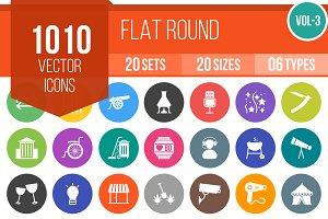 1010 Flat Round Icons (V3)