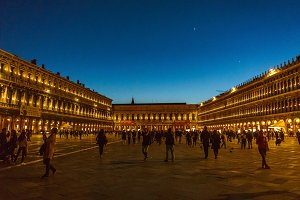 St. Mark square at night