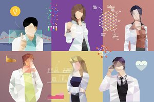 6 various doctors