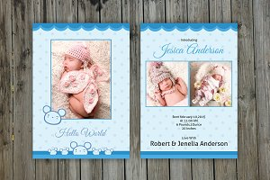 Birth Announcement Template-V02