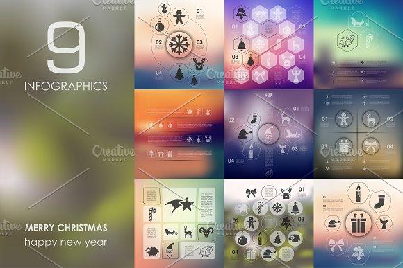 9 Merry Christmas infographics