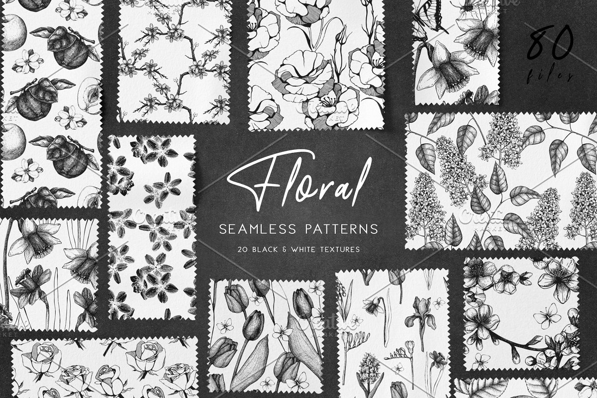 Floral Patterns Bundle Custom Designed Graphic Patterns