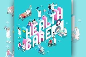 Healthcare Concept Isometric