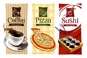 Vector Cafe Banners