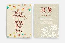 Christmas card templates. Invitation