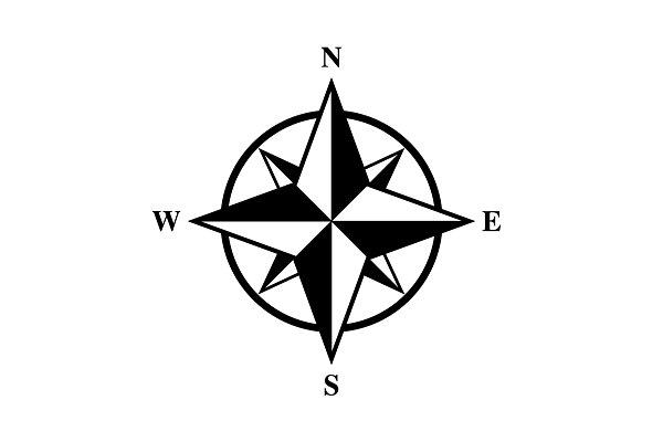 Basic Compass Rose | Custom-Designed Graphic Objects ~ Creative Market