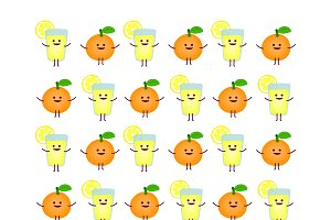 Lemonade and orange pattern