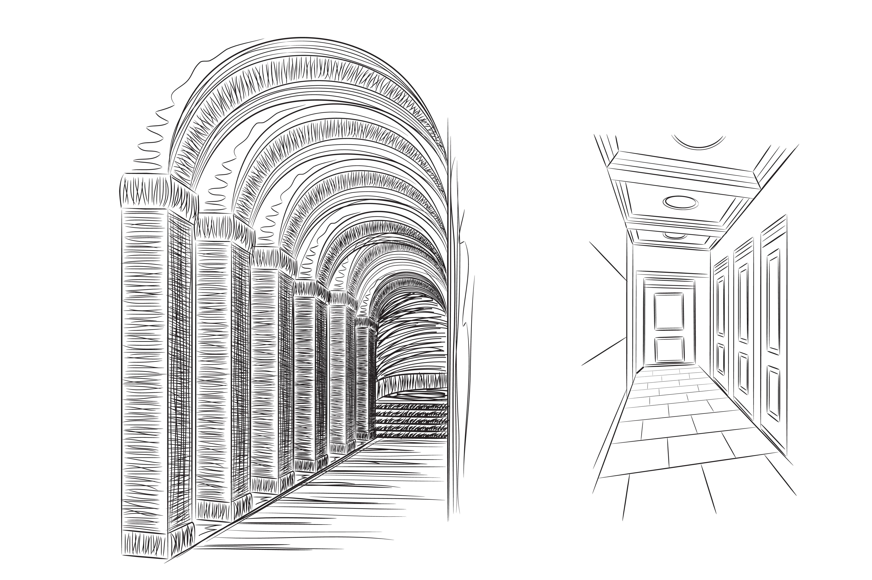 Hall sketch ~ Illustrations ~ Creative Market
