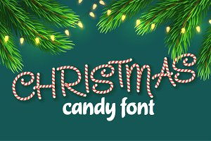 Christmas candy cane alphabet