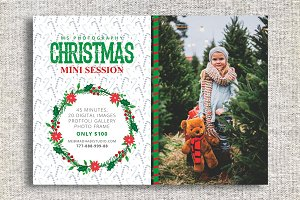 Christmas Mini Session Template