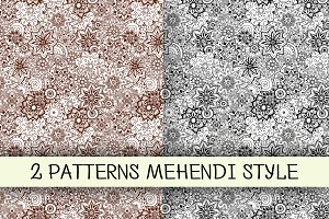 2 vector patterns mehendi style