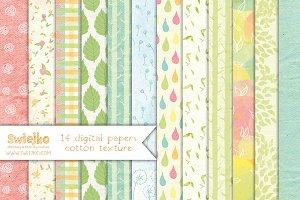 Floral Paper, linen texture