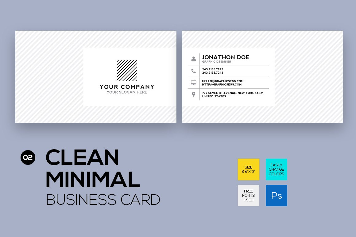Clean minimal business card #2 ~ Business Card Templates ...