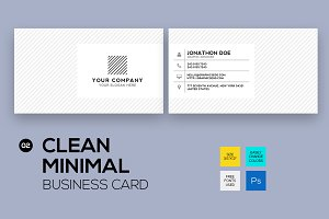 Clean minimal business card #2