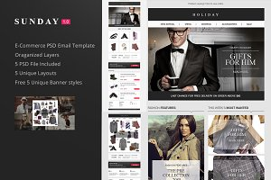 Sunday E-commerce Email PSD