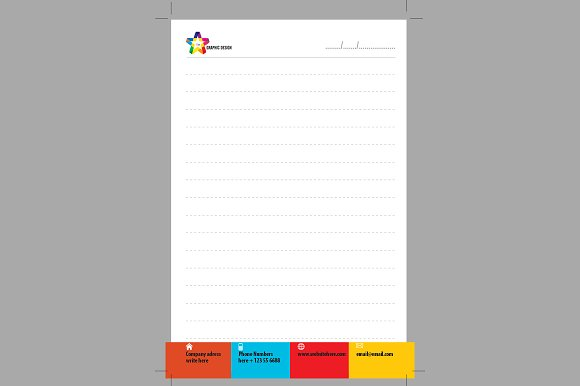 Single Page Design Note Paper