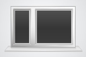 Plastic window vector illustration