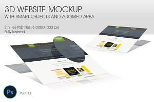 3D Website Mockup - Vol. 2