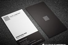 Clean minimal vertical business card