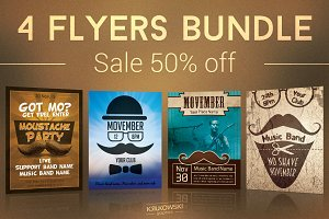 Movember Flyers Bundle