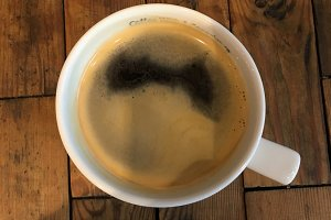 Coffee Mug on a Rustic Wood Surface