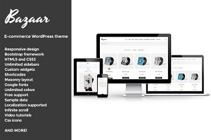 Bazaar, E-Commerce WordPress theme