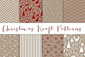 Christmas Kraft patterns