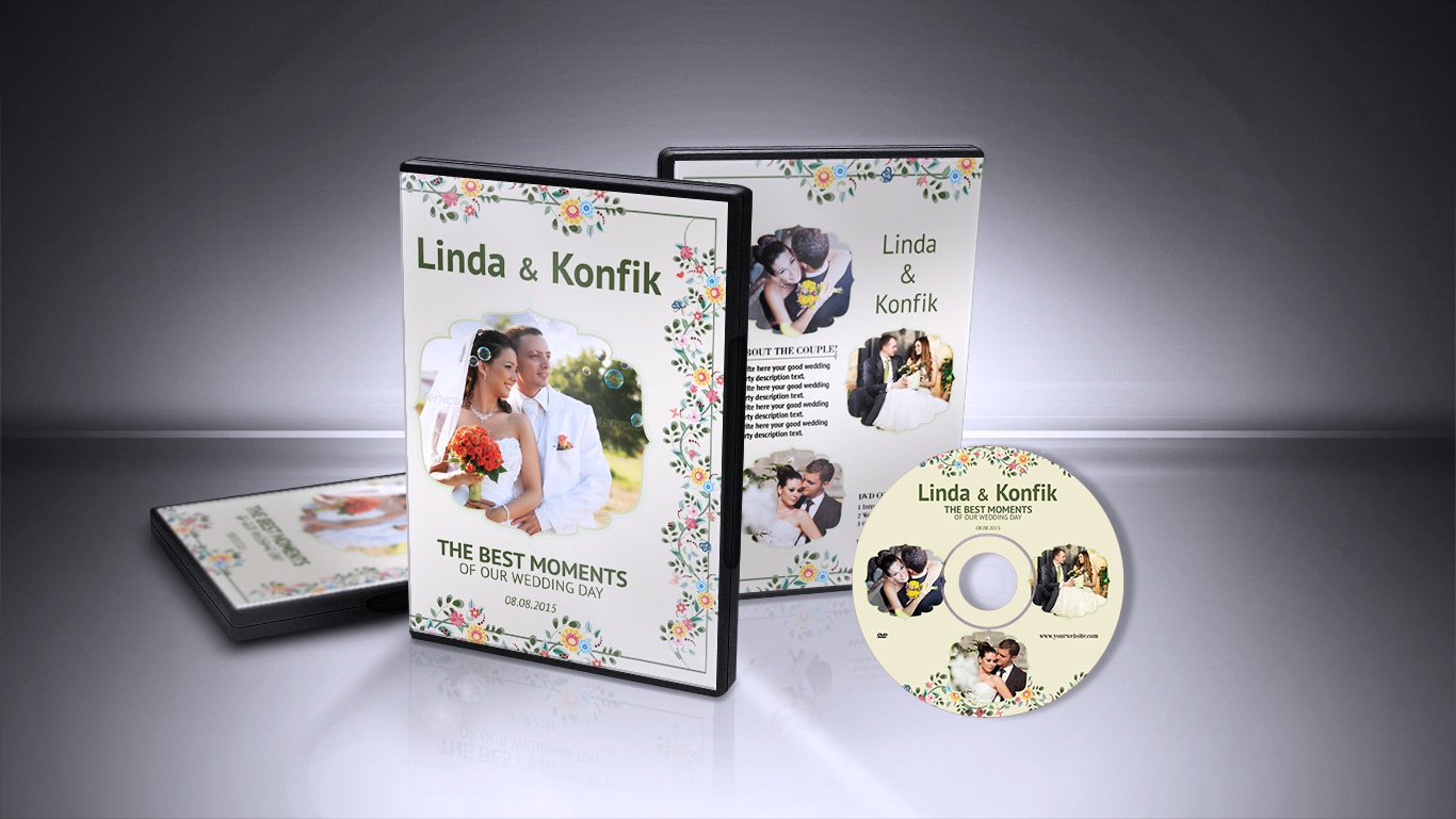 Wedding DVD Cover & CD Label v06 ~ Stationery Templates ~ Creative ...