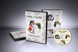 Wedding DVD Cover & CD Label v06