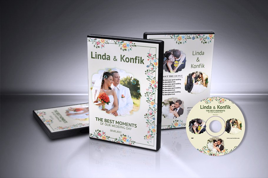 Wedding Dvd Cover Cd Label V06 Stationery Templates Creative