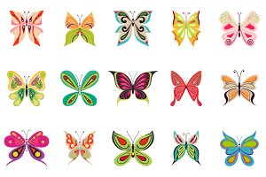 15 beautiful butterflies in color an