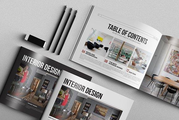 Interior Design Brochure Brochure Templates on Creative Market – Interior Design Brochure Template