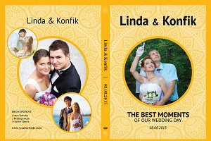 Wedding DVD Cover & CD Label v07