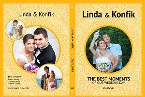 Elegant Wedding Dvd Cover Creative Photoshop Templates Creative Market